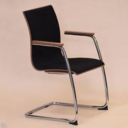 Stuhl DSC schwarzer Stuhl für Konferenzräume und Seminarräume mit Metallgestell und Armlehnen