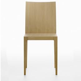 holzstuhl aus hellem Holz - Serie ana